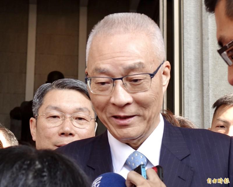 國民黨下屆不分區立委出爐,「被推薦」的黨主席吳敦義也名列安全名單中段班第8名。(記者塗建榮攝)
