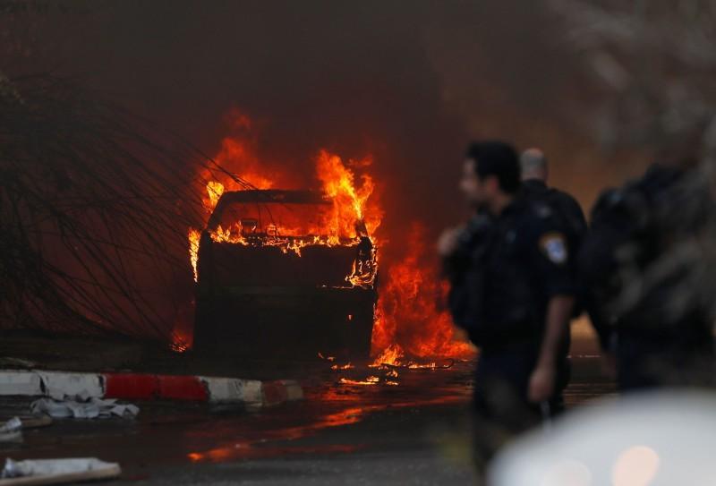 以色列今(12日)分別對加薩走廊和敘利亞首都大馬士革發動空襲,擊斃了一名巴勒斯坦聖戰組織的高級指揮官。(法新社)