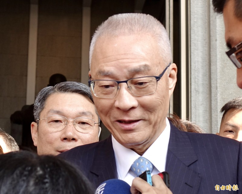 國民黨不分區立委名單今晚則已傳出名單內容,國民黨主席吳敦義將列名第8名,在安全名單內。(記者塗建榮攝)