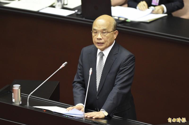 行政院長蘇貞昌率各相關部會首長,12日赴立法院報告。(記者叢昌瑾攝)