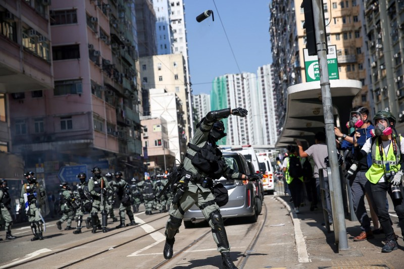 港媒指出,首批「特務警察」最快本週執勤。(歐新社)