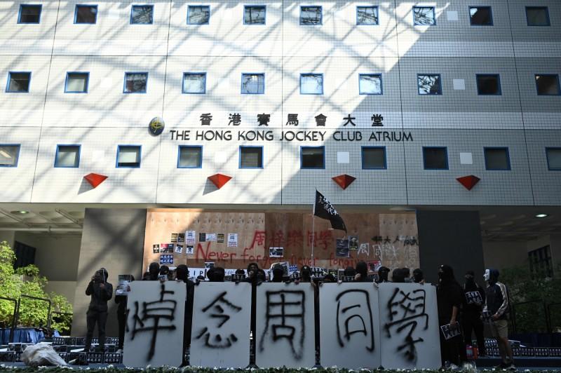 香港政府公布,最近3個月共接獲2537起屍體通報案件數,其中包括受傷送醫後死亡的人數。(法新社)