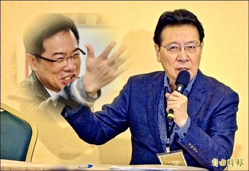 趙少康(右)批評國民黨主席吳敦義,引發蔡正元(左)不滿,在臉書反駁。(資料照,本報合成)