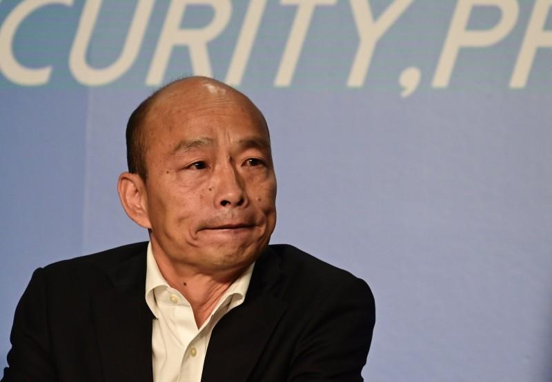 國民黨總統參選人韓國瑜、副總統參選人張善政與外媒座談,談論兩岸及香港等議題。(法新社)