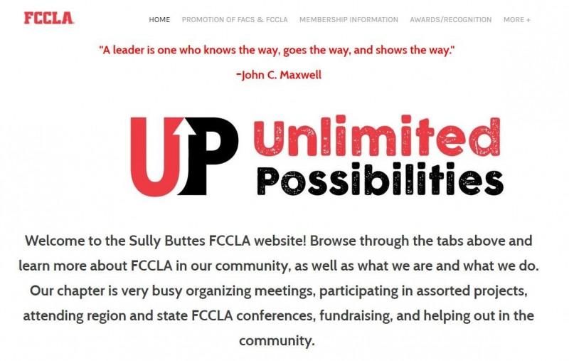 美國全國性非營利組織FCCLA的分部(Sully Buttes)官方網站。(圖擷取自Sully Buttes FCCLA官網)