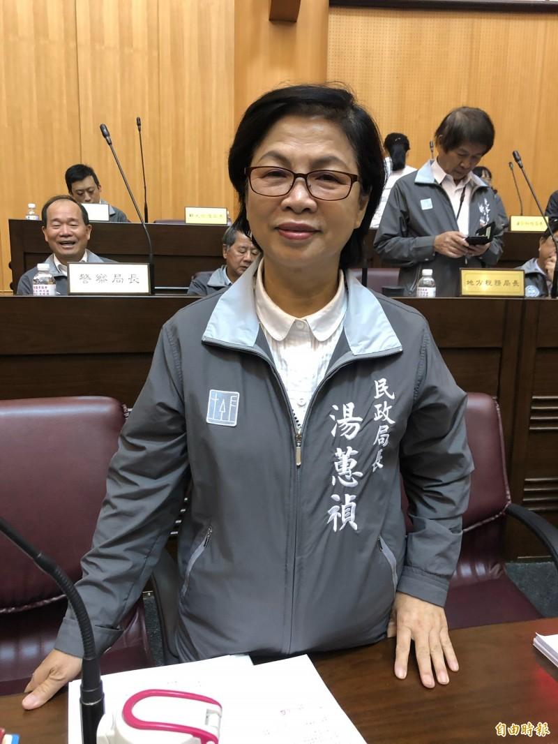 桃園市政府民政局長湯蕙禎獲民進黨列入不分區立委名單,排序第16位。(記者魏瑾筠攝)