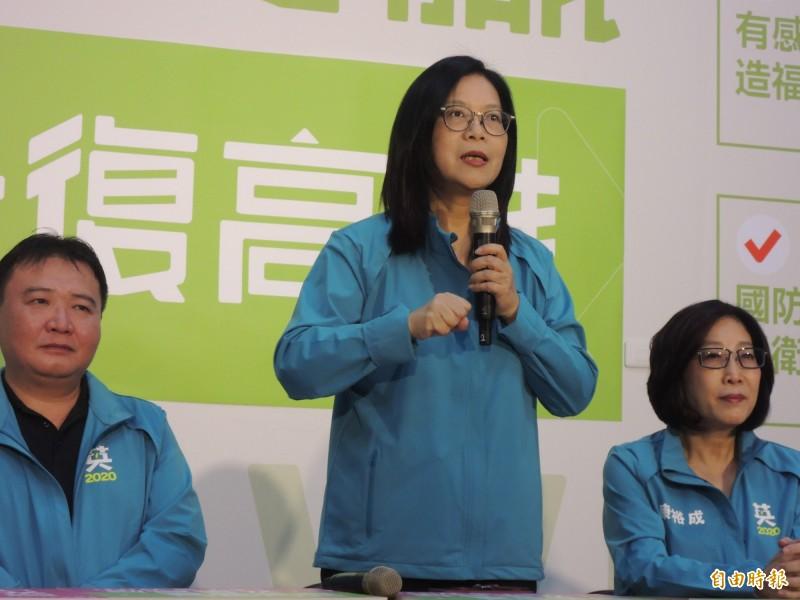 管碧玲認為,民進黨討論重大決策的過程難免風雨,但事後一定全面團結。(記者王榮祥攝)