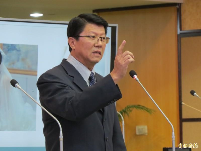 謝龍介宣布,他若當選立委,就參選國民黨黨主席。(資料照,記者蔡文居攝)