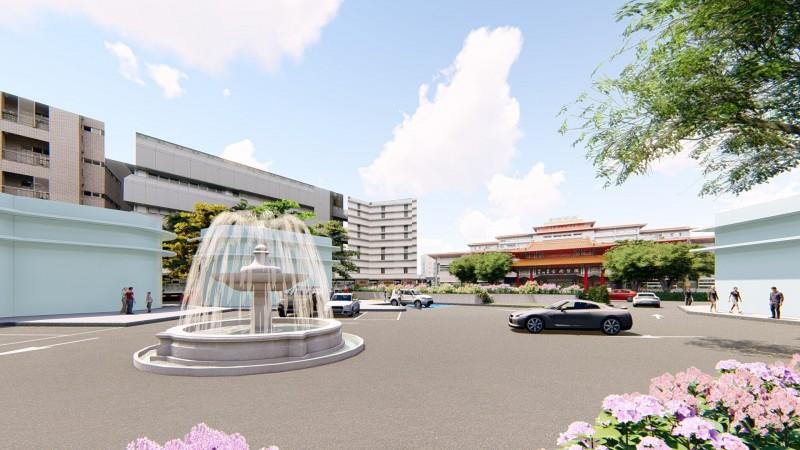 南方公園將變身「健康平安廣場」提供病患停車。(記者王捷翻攝)