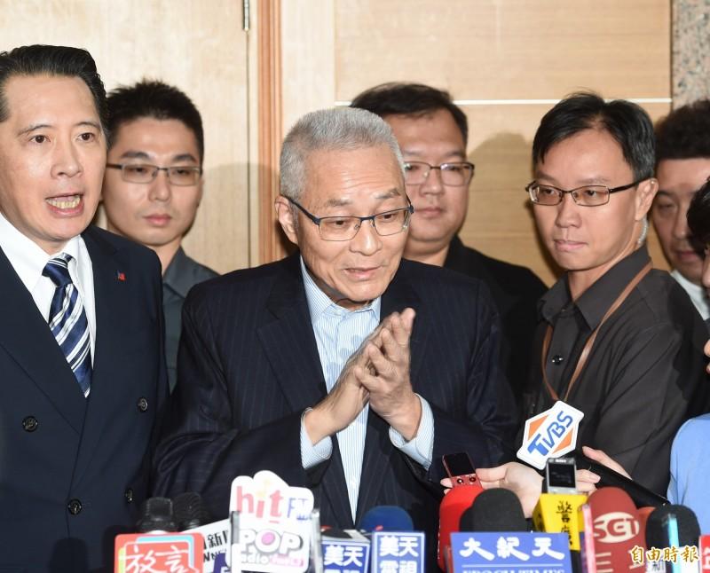 國民黨不分區立委調整名單出爐,黨主席吳敦義從原本第10名改列第14名。(記者方賓照攝)