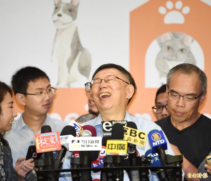 台灣民眾黨主席柯文哲。(資料照)