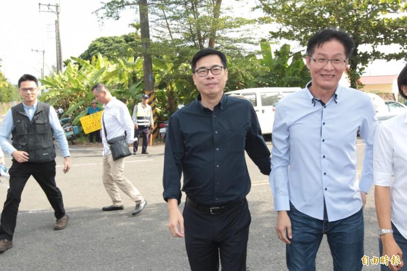 國民黨不分區立委名單出爐後引發外界議論,陳其邁認為有「統一無法擋」的味道。(記者黃佳琳攝)