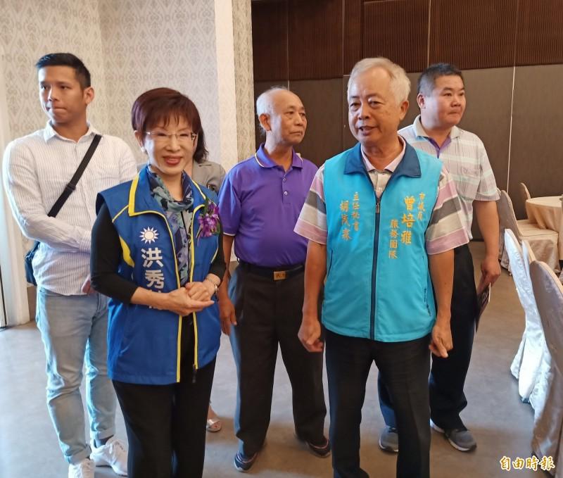 洪秀柱出席台南市大台南同鄉會會員大會。(記者王姝琇攝)