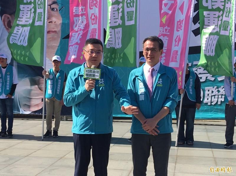民進黨主席卓榮泰呼籲國民黨不分區立委名單要改弦更張,不要對不起台灣人。(記者謝武雄攝)