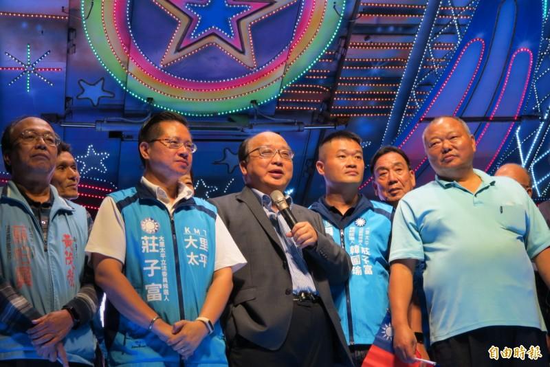 對於國民黨不分區立委名單,胡志強表示,如果不能反映民意,會被人民檢討及拋棄。(記者蘇金鳳攝)