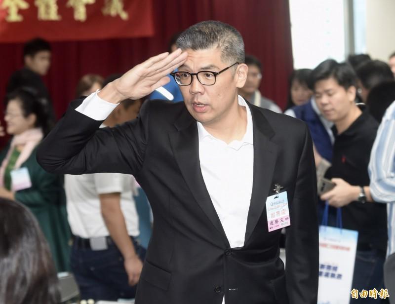 國民黨今舉行第20屆中央委員第三次全體會議,連勝文出席表達立場。(記者簡榮豐攝)