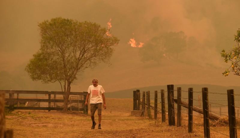 澳洲東南部土地遭受野火蹂躪。(法新社)