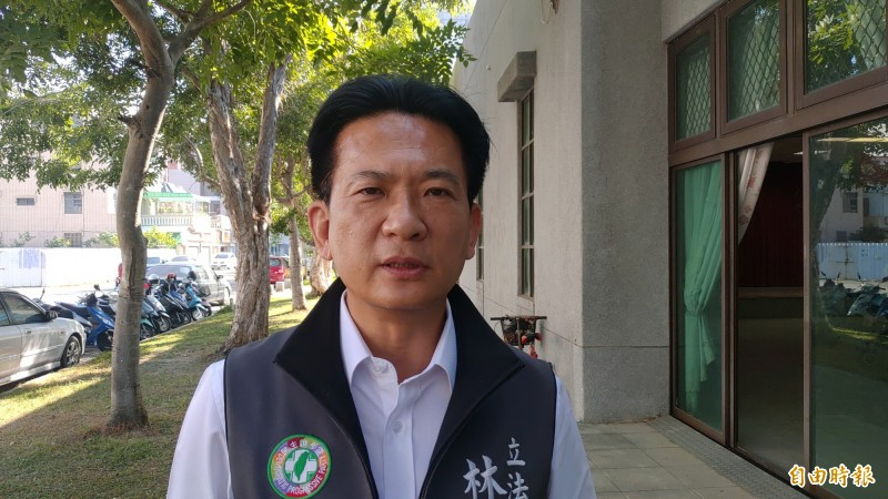 林俊憲表示,蔡賴配成軍,帶給所有立委參選人士氣提升,大家更有信心,也讓所支持者獲得鼓舞。(記者蔡文居攝)