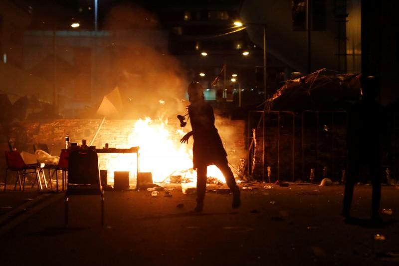 香港反送中抗爭一景。(路透)
