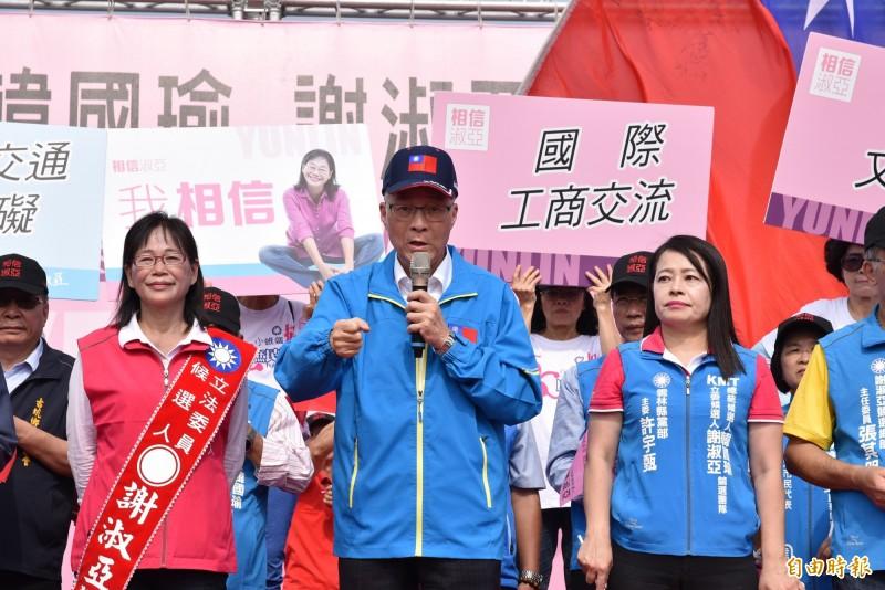 不分區名單爭議,國民黨主席吳敦義說,一切公正無私,應該會得到社會大眾基本肯定。(記者黃淑莉攝)