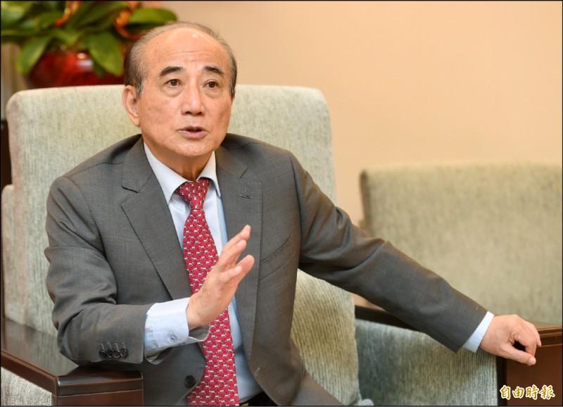 前立法院長王金平。(記者簡榮豐攝)