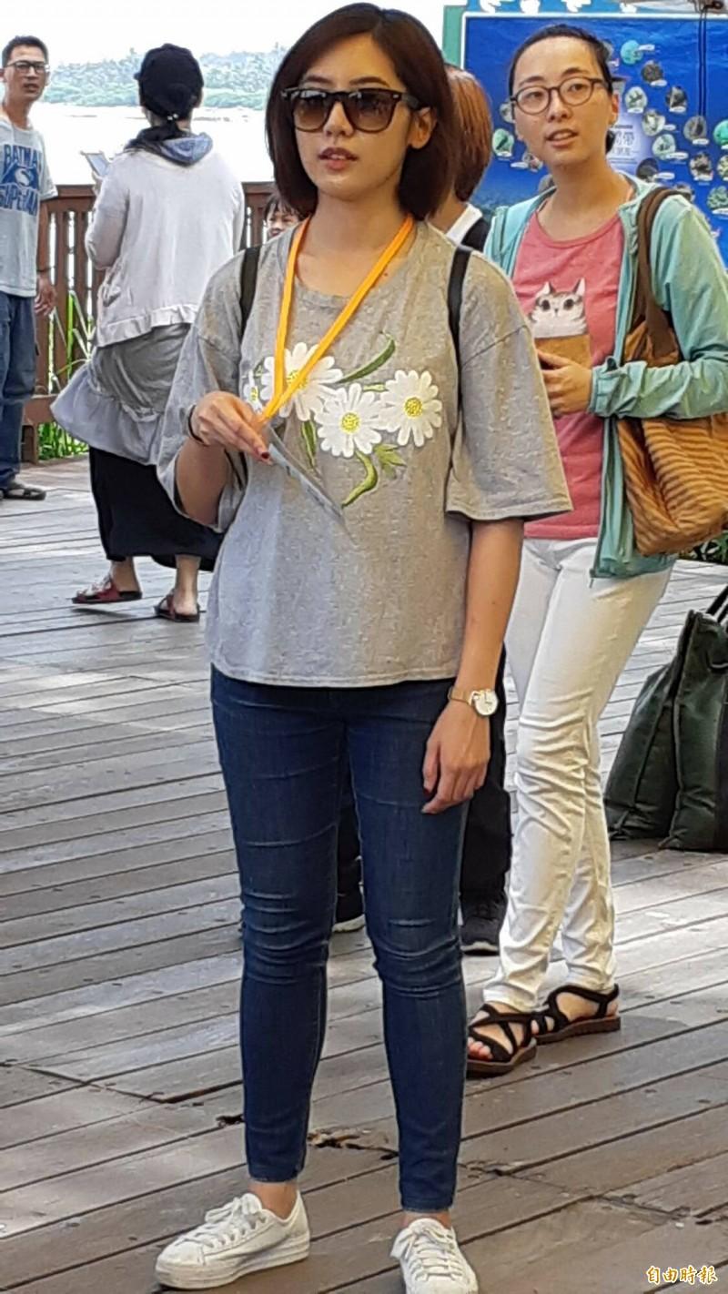 「學姊」黃瀞瑩明天將到台東,陪同民眾黨提名的立委參選人陳允萍登記及掃街。 (資料照,記者黃明堂攝)