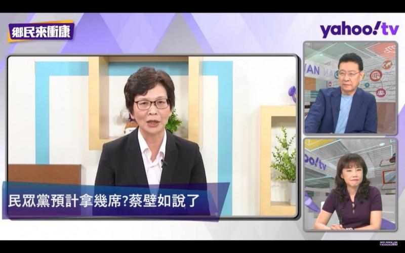 台北市政府顧問蔡壁如下午接受yahoo!tv節目訪問。(翻攝自yahoo!tv節目)
