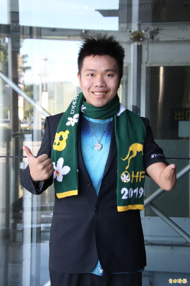 新竹縣新埔子弟、26歲「虎克船長」詹翔欽透過海選,成為台灣民眾黨全國不分區立委第8名。(記者黃美珠攝)