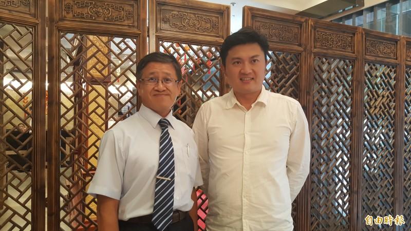 畜產公司董事長葉文忠(左)、總經理姚量議(右)。(記者楊心慧攝)
