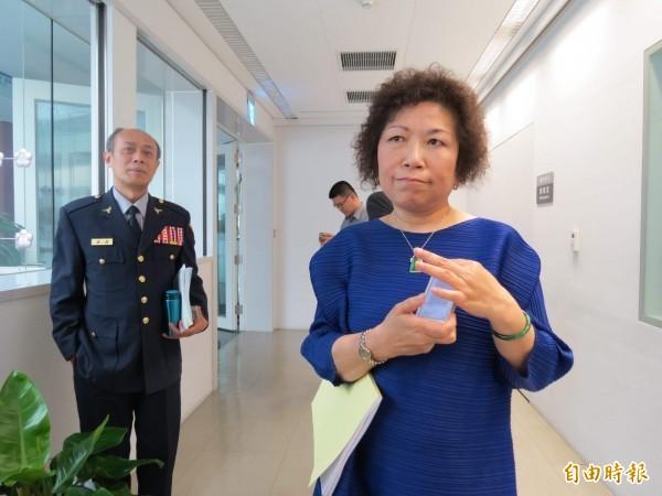 葉毓蘭因在臉書發表挺港警言論,引發爭議。(資料照,記者張菁雅攝)