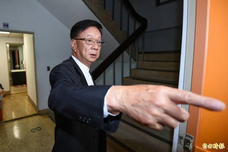 聯電榮譽副董事長宣明智列親民黨不分區立委提名第三名。(記者劉信德攝)
