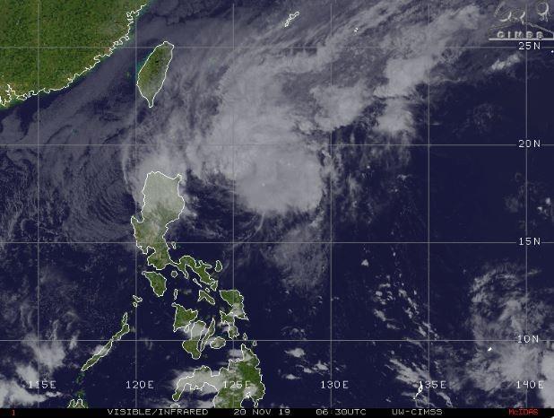 傑森.尼科爾斯認為,颱風將在近台時減弱為熱帶性低氣壓。(圖取自傑森.尼科爾斯推特)