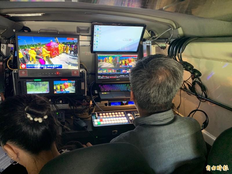 白沙屯媽祖網路電視台將配合進行移動式直播。(記者蔡政珉攝)