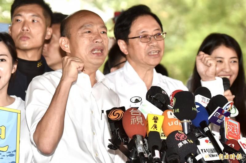 韓國瑜指出,台灣人民要覺醒,否則未來會相當悲哀。(資料照)