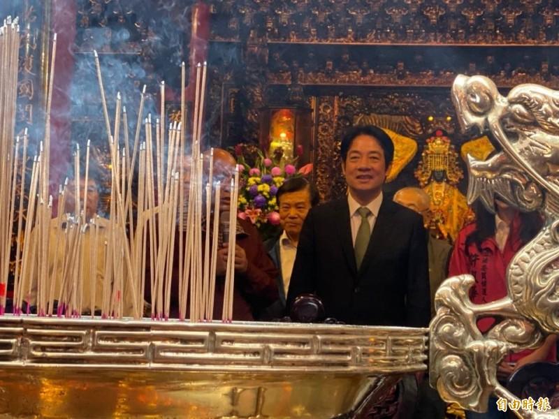 賴清德說,「我真的建議韓市長不要再打麻將了!」(記者楊心慧攝)