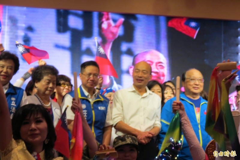 韓國瑜表示,他現在很害怕世界忘記台灣,台灣忘記了世界,因此台灣未來只一條路就是「開放」。(記者蘇金鳳攝)