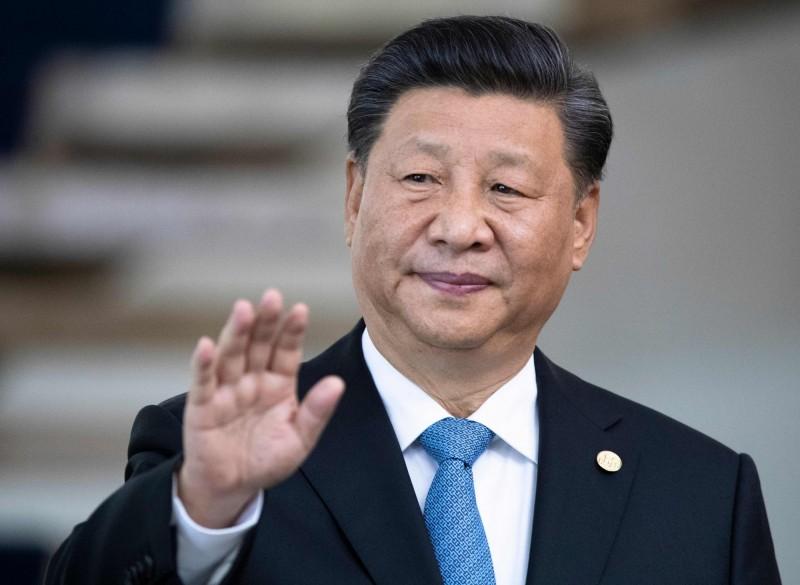 中國外交部駐港公署一份聲明,亮出中方準備發動戰爭前的慣用語,引起外界特別關注。圖為中國國家主席習近平。(法新社)