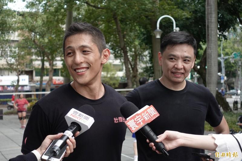 近日爆出共諜滲台疑雲。吳怡農上午受訪表示,中國間諜組織、情報組織在台灣每天都在進行中。(記者沈佩瑤攝)