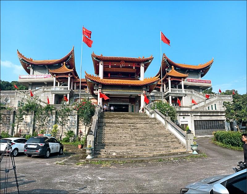 澳媒報導共諜揭露中共介入台灣選舉,其中的手法之一就是對台灣廟宇進行統戰。圖為去年喧騰一時的彰化五星廟拆除前的原貌。(資料照)