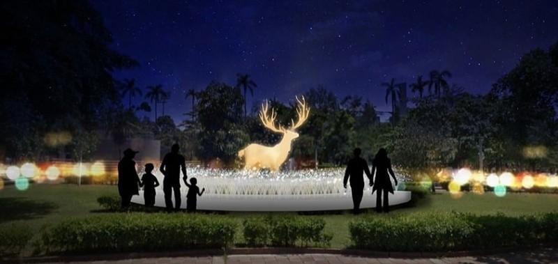 屏東縣政府在屏東公園打造系列耶誕燈飾,預計於11月29日正式點燈。(圖擷取自屏東縣政府耶誕節官網)