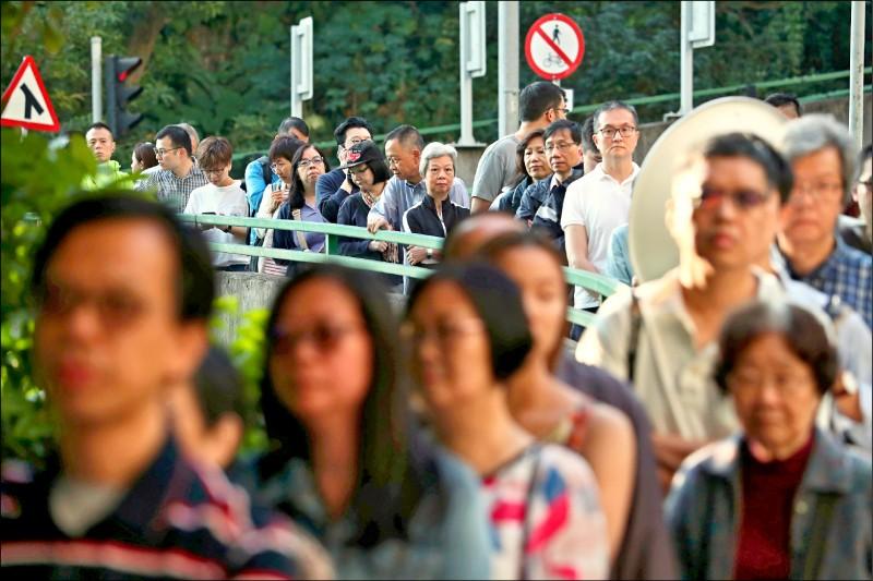 香港區議會選舉廿四日投票,受到近來「反送中」運動激勵,投票率與投票人數雙雙打破香港主權移交後的所有選舉紀錄!(路透)