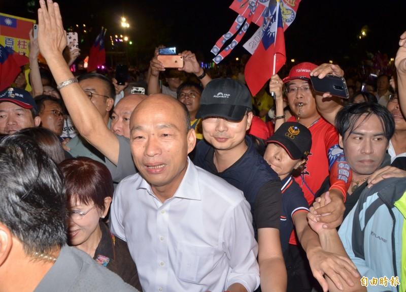 綠黨質疑韓國瑜(見圖)恐涉政治獻金申報不實,明(26)日將到監察院檢舉。(資料照)