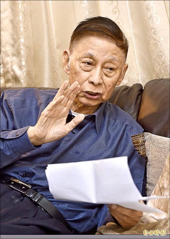 文化大學董事長張鏡湖昨日下午在台大醫院辭世,享耆壽九十二歲。(資料照,記者羅沛德攝)