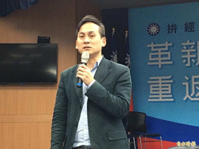 國民黨總統候選人韓國瑜競選總部發言人葉元之。(記者林良昇攝)