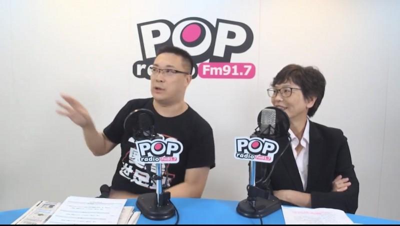 台北市政府顧問蔡壁如中午接受專訪。(翻攝自《POP搶先爆》)