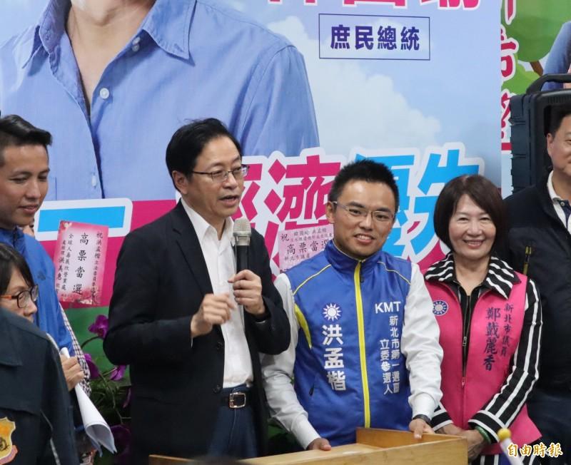 張善政表示,若蘇貞昌回到行政院繼續酸言酸語,老天會讓他很快再住回醫院。(記者周湘芸攝)