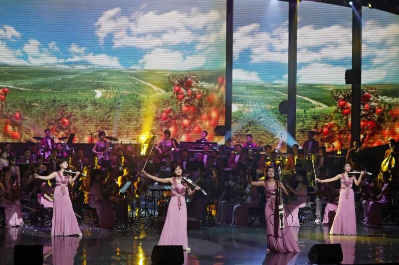 北韓牡丹峰樂團原定12月首度到中國巡迴演出,但北京消息人士透露,演出計劃被取消。(歐新社)