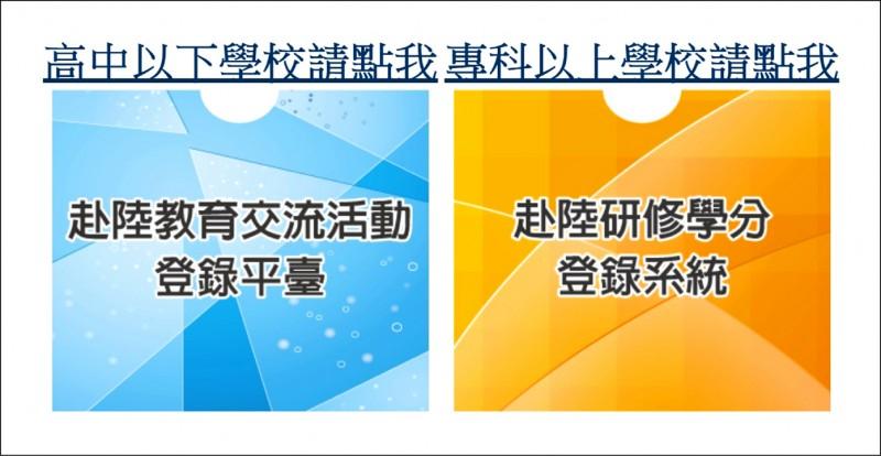 教育部為了提醒各級學校赴中國教育交流的相關法規,12月起要求學校若要以學校名義派師生等人員赴中國活動,須至網路平台登錄。(圖取自網路)