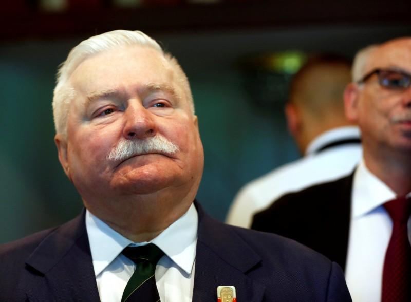 波蘭前總統、諾貝爾和平獎得主華勒沙(Lech Wałęsa)。(路透)
