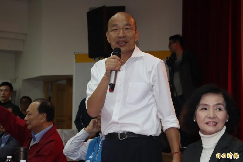 李正皓認為,韓國瑜競選時竟然在講落選後的事,團隊內部士氣「沒了」。(資料照)